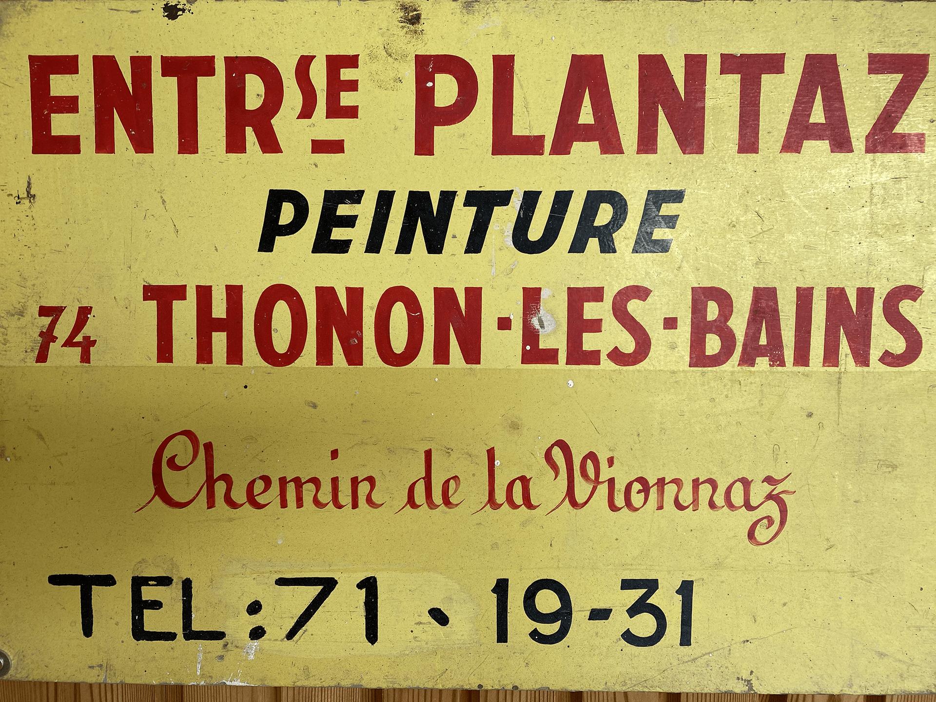 enseigne ancienne de plantaz peinture